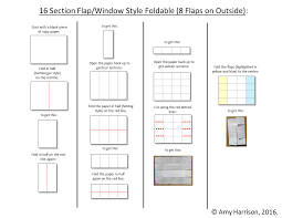 make a foldable with 8 flaps windows foldables middle