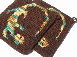green and brown lizard potholders southwestern southwest home