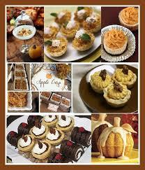 mini thanksgiving desserts yum autumn thanksgiving