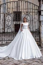 satin wedding dresses discount 2016 new modern satin wedding dress a line the