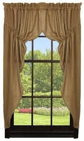 Burlap Looking Curtains Best 25 Primitive Curtains Ideas On Pinterest Country Window