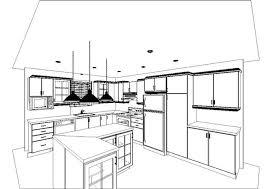 plan cuisine l décoration cuisine perspective en l 33 marseille 06240100 garcon
