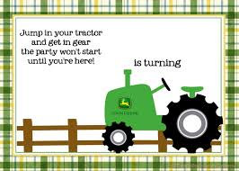 free printable john deere tractor birthday invitation drevio