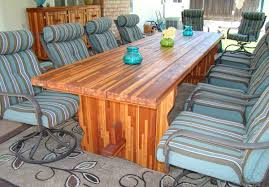 custom trestle natural wood table made in u s a duchess outlet