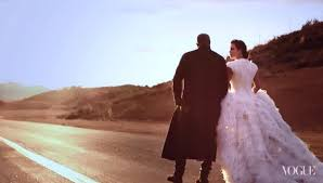 wedding dress kanye and kanye grace cover of vogue in wedding