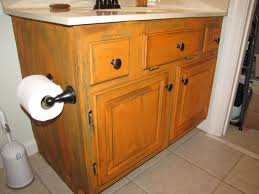 Painted Bathroom Cabinets Ideas How To Paint Oak Bathroom Cabinets Black Nrtradiant Com