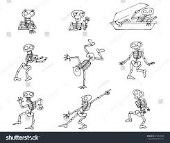 halloween dancing skeleton halloween skeletons vector pack stock vector 414979948 shutterstock