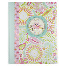 cr gibson photo album c r gibson dena happi girl sweet baby owl memory keepsake book