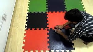 Vinyl Flooring India Cost Fab Floorings India Interlocking Rubber Floor Tiles Youtube