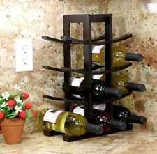 small wooden wine rack 12 bottle storage holder kitchen bar