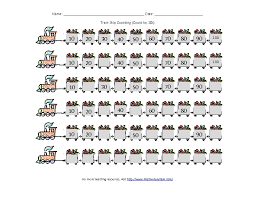train skip counting count by 10s 1st 6th grade worksheet
