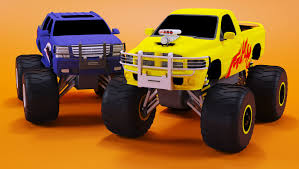 kids monster truck video monster trucks races cartoon cars for kids educational video