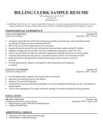 Billing Clerk Resume Sample by Sample Warehouse Clerk Resume