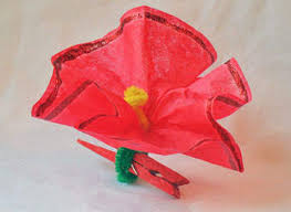 kids u0027 christmas crafts poinsettia clothespin ornament homemade