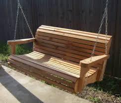 5 Ft Patio Swing With Cedar Pergola Create by Contoured Cedar Porch Swing