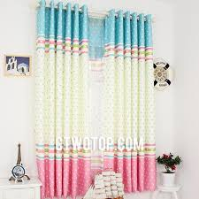 Green Kids Curtains Cute Dreamy Kids Room Baby Blue Pink And Beige Star Curtains