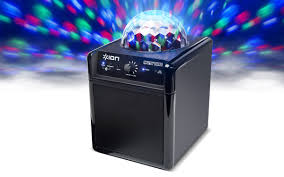 portable speaker with lights party time wireless speaker system with built in light show ion