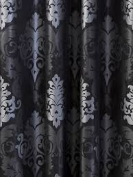 Black And Silver Curtains Beasleyandhenley Black And Silver Damask Curtain Against Charcoal