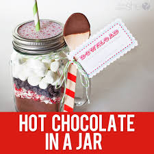 33 neighbor gift idea chocolate in a jar with free printable