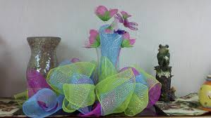 mesh ribbon table decorations mesh ribbon centerpiece creative side pinterest mesh ribbon