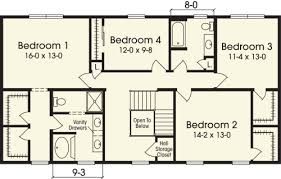 4 bedroom 1 story house plans stunning idea 11 2 story 4 bedroom house plans two homeca