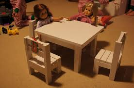 american doll table and chairs ana white claras table and 4 stackable chairs sized for 18 dolls
