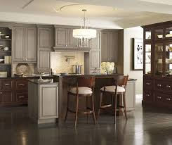 gray walls with stained kitchen cabinets 9 inspiring gray kitchen design ideas