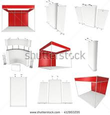 Pop Up Reception Desk Trade Show Booth Set Rollup Popup Stock Illustration 444094066