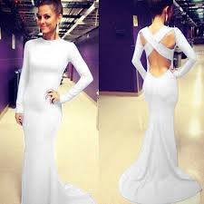 women backless bandage formal evening party cocktail prom