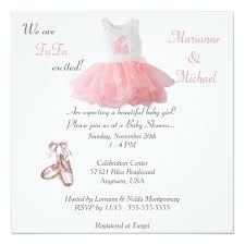 baby shower invites for girl ballet tutu excited baby girl shower invitation zazzle