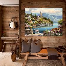 acrylic paint by number kit scenery oil painting diy home wall