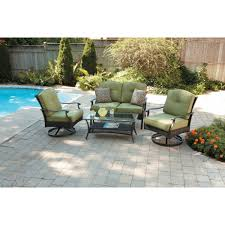 Patio Chairs With Ottoman Patio Furniture Shop Rst Brands Deco Bliss Blue Piece Wicker
