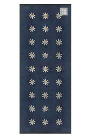 indigo vinyl floor cloth cottage home
