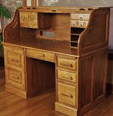 Rolltop Computer Desk Oak Craft Rolltop Computer Desk Ebth Best Home Furniture Design