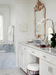 White Bedroom Dressing Tables Bathroom White Wooden Bathroom Vanity With Makeup Table And Round