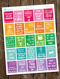 fitness planner stickers printable workout motivational zoom