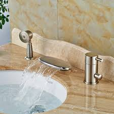 online get cheap waterfall tub faucet brushed nickel aliexpress
