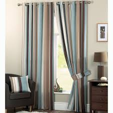Light Blue Bedroom Curtains Duck Egg Blue Brown Striped Curtains Glif Org