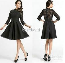 black lace sleeve homecoming dresses 2016 high neck beading