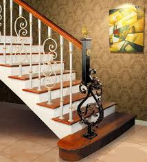 Wrought Iron Railings Interior Stairs Excellent Interior Wrought Iron Railings With Brown Stained Wooden