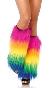 mardi gras leg warmers fluffy leg warmers wear it out