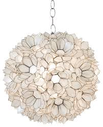 Capiz Light Pendant Capiz Shell Pendant Lighting Houzz