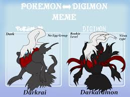 Pokemon Memes En Espa Ol - pokemon digimon meme darkrai by the9tard on deviantart