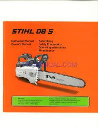 manual del propietario para motosierras stihl 08 s descargar gratis