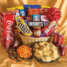 junk food basket family gifts delivered boston college care packages