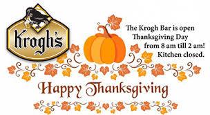krogh bar open thanksgiving day krogh s restaurant brew pub