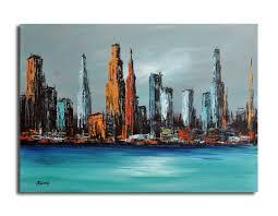 original acrylic painting new york city impressions original unique contemporary cityscape artwork 19