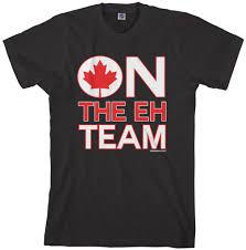 Kenya Flag Clothing Threadrock Men U0027s On The Eh Team T Shirt Funny Canada Canadian Flag