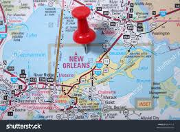 Map Of New Orleans Louisiana Atlas Map City New Orleans Pinpointed Stock Photo 2699112