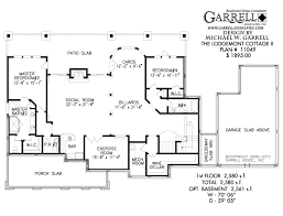 two bedroom cottage floor plans lodgemont cottage ii house plan house plans by garrell